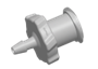 Luers Luer Fitting, female luer X 1/16 HB, Natural Polypropylene