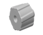 Luers Luer Fitting, luer plug, Natural Polypropylene