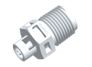 Thread to tube Straight Fitting, 1/8 NPT X 1/16 HB, White Nylon